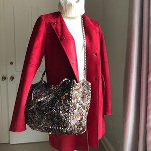 Zara Jackets & Coats - Zara red faux suede leather coat